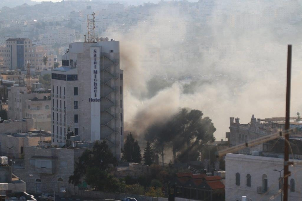 Image of Clashes in Bethlehem - view from hotel