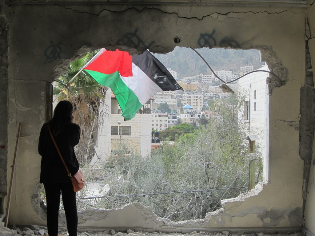 Image of House demolition in Nablus using explosives (November 2015)