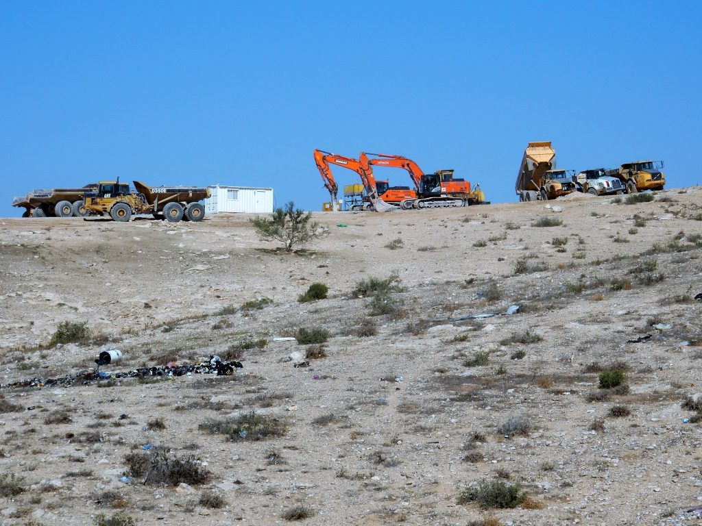 Bulldozers in the Negev Desert November 2015