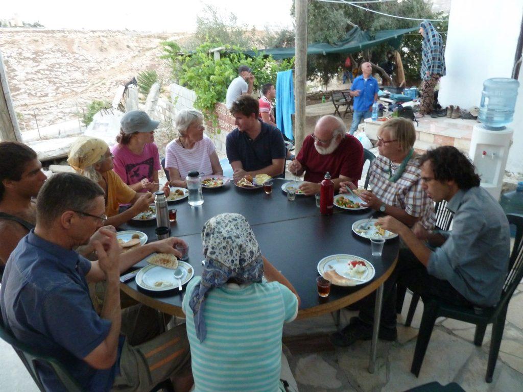 participants' meal at 2015 rebuilding camp