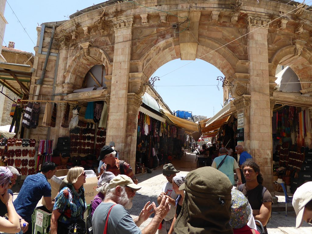 Jerusalem old city tour with Jeff Halper, ICAHD rebuilding camp 2015