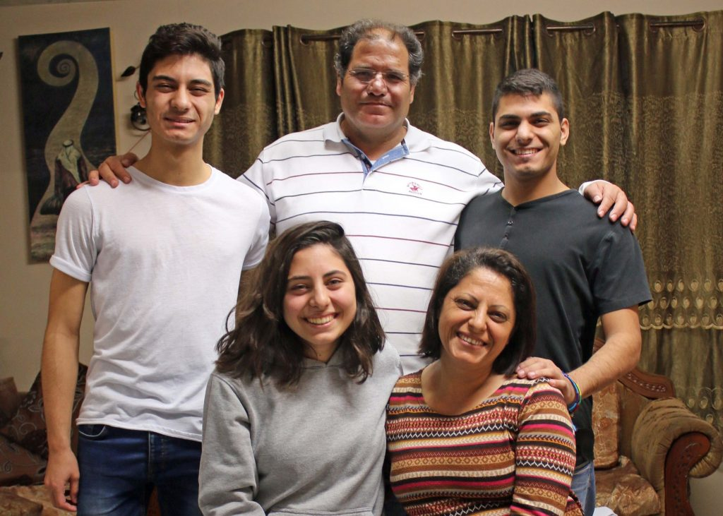 Muntaha Saad with members of the family
