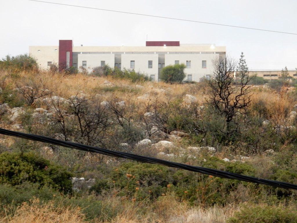 IDF base in the Galilee which stares down on the Saad family home