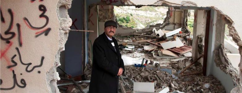 Father whose home was demolished