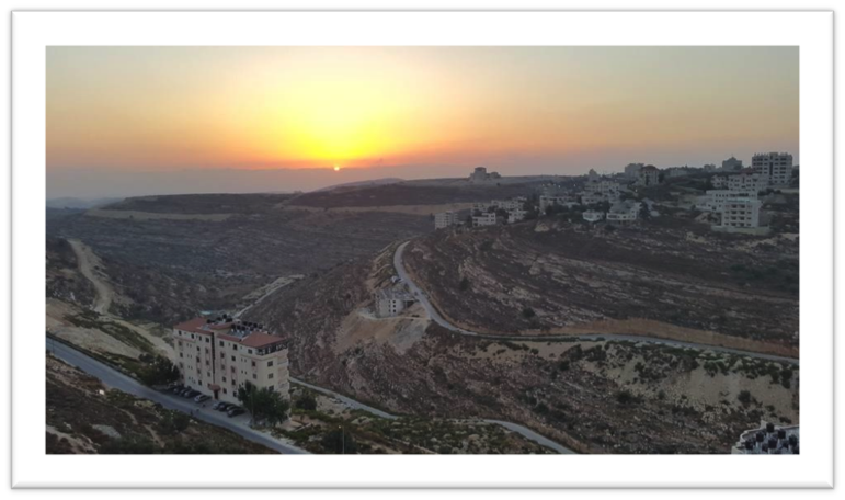 West Bank sunset